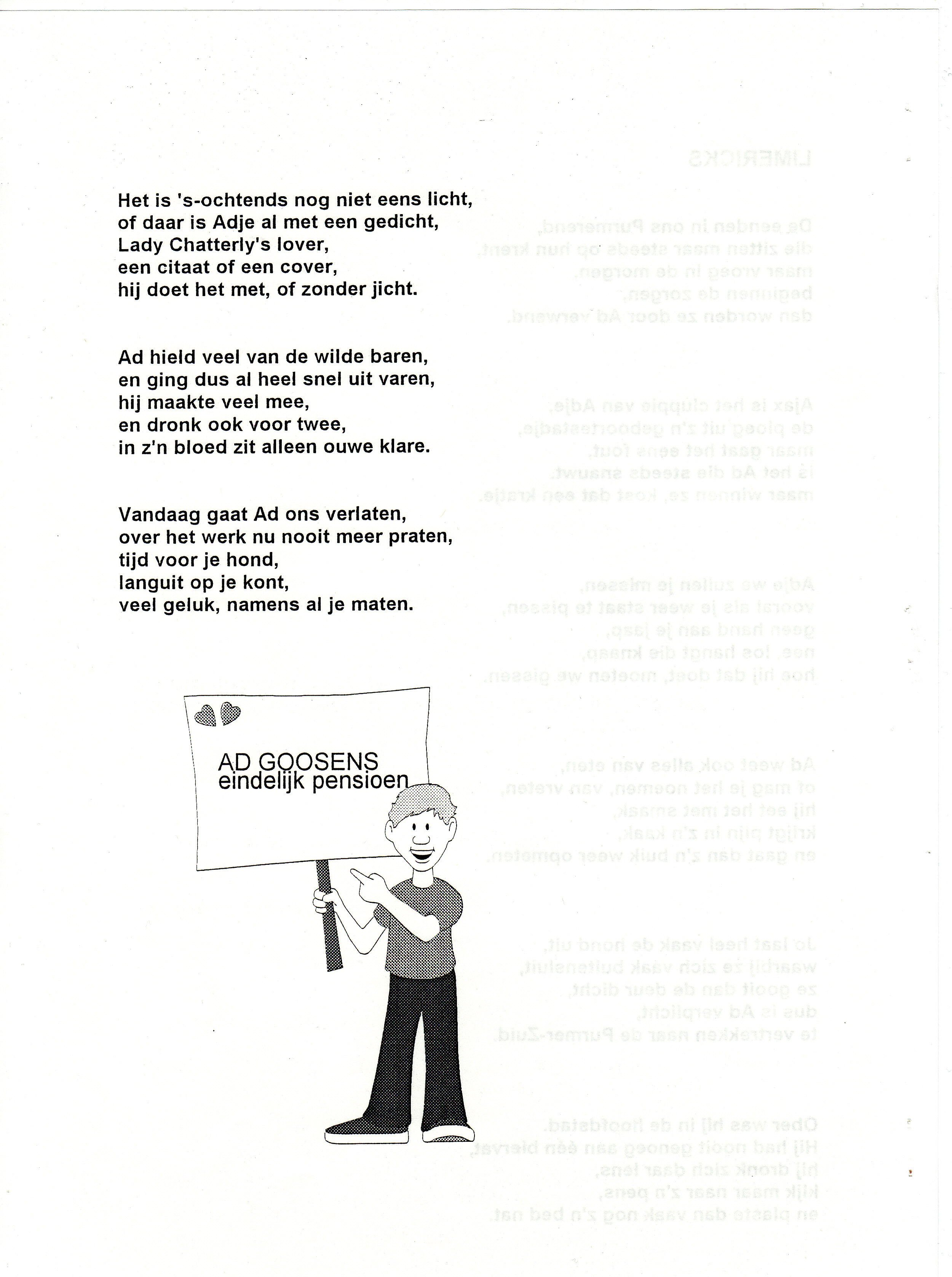 Uitzonderlijk Pensioen Ad Goossens | harryswerkverleden.nl &TX12